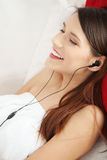 Listening to music. Royalty Free Stock Photos