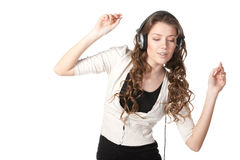 Listening to the music Stock Image