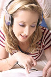 Listening to Music Stock Photos
