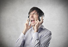Listening to the Music Stock Images