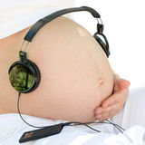 Listening to a music Royalty Free Stock Image