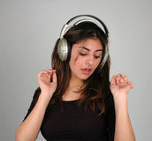Listening to music-8 stock images