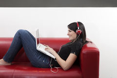 Listening to music Royalty Free Stock Image