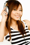 Listening to the music Royalty Free Stock Image