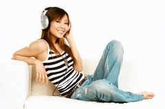 Listening to the music Royalty Free Stock Photo