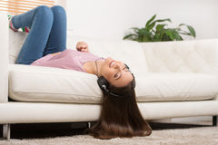 Listening to the music. Royalty Free Stock Photos