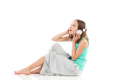 Listening to the music Royalty Free Stock Images