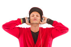 Listening to the music, mister dj Royalty Free Stock Photo