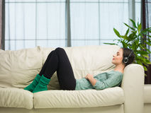 Listening to music Royalty Free Stock Photography