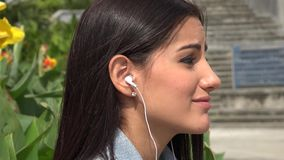 Listening to Music stock video
