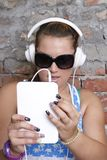 Listening to music Royalty Free Stock Photo