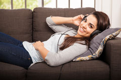 Free Listening To My Favorite Song Stock Photography - 47191222