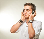 Listening to my music Royalty Free Stock Photo