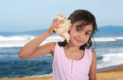 Listening to the Ocean Royalty Free Stock Photography