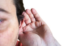 Listening to others talk Royalty Free Stock Photo