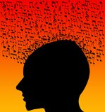 Listening to songs. And music Stock Images
