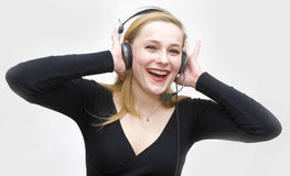 Listens to the sounds Stock Image