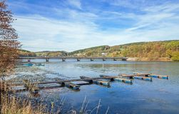 Listersee水库, Sauerland,德国 免版税库存照片