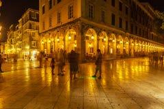 Liston gata av den Korfu staden Royaltyfri Fotografi