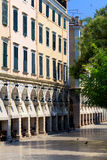 Liston at morning, Corfu city Royalty Free Stock Photo