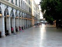 Liston-Quadrat auf Korfu Stockfoto