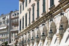 Liston square Corfu town Royalty Free Stock Image