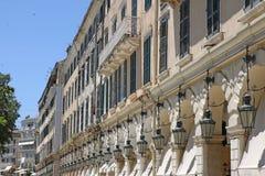 Liston square old Corfu town Stock Photos