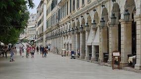 Liston street , Corfu old town , Greece Royalty Free Stock Photos