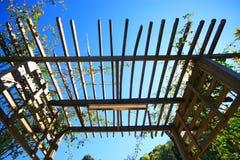 Listones de madera del techo Foto de archivo libre de regalías