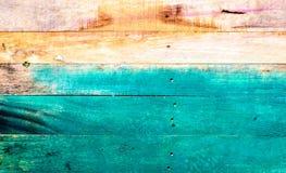 Listones de madera pintados Fotos de archivo libres de regalías