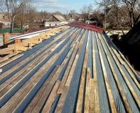 Listones del tejado Foto de archivo libre de regalías