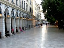 Listonvierkant op Korfu Stock Foto