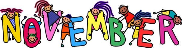 Listopadów dzieciaki ilustracji