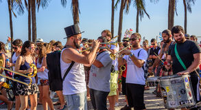 27 Listopad, 2016 Festiwal De Fanfarras Ativistas - HONK! Rio 2 Zdjęcia Stock