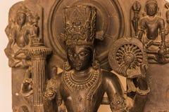 Listopad 04, 2014: Hinduska rzeźba w świątyni w Jaipur, India Obraz Royalty Free