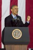 LISTOPAD 7, 2016, niezależność HALL, PFIL , PA - prezydent Barack Obama mówi przy Hillary Clinton wybory wigilia Wydostawał Się g Zdjęcia Stock