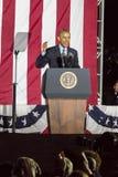 LISTOPAD 7, 2016, niezależność HALL, PFIL , PA - prezydent Barack Obama mówi przy Hillary Clinton wybory wigilia Wydostawał Się g Zdjęcie Stock