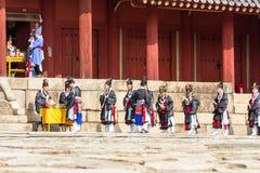 1 2014 Listopad, Seul, Południowy Korea: Jerye ceremonia w Jongmyo świątyni Obraz Royalty Free