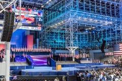 LISTOPAD 8, 2016, wybory noc przy Jacob K Javits Ześrodkowywa - miejsce wydarzenia dla Demokratycznego prezydenckiego kandydat Hi Zdjęcie Stock