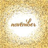 Listopadu literowanie Zdjęcie Royalty Free