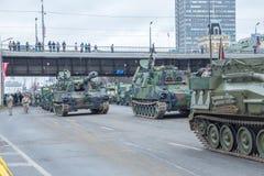 Listopadu 18th niezależności parada w Latvia obraz royalty free