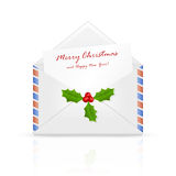 listowa Boże Narodzenie poczta Santa ilustracji