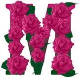 Listowa M kwiatu śliczna ilustracja Fotografia Royalty Free