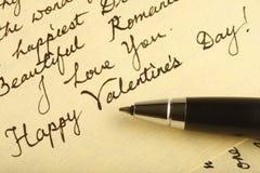 listowa miłość Obrazy Royalty Free