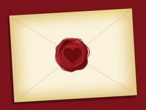 listowa miłość royalty ilustracja