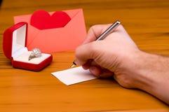 listowa miłość zdjęcie royalty free