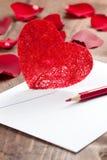 listowa miłość Fotografia Royalty Free