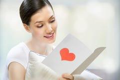 listowa miłość Obraz Royalty Free