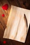 listowa miłość Zdjęcie Stock