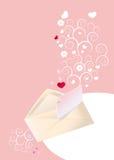 listowa miłość Fotografia Stock